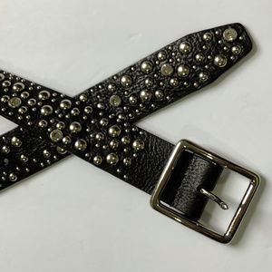 Express Black Leather Belt SZ M